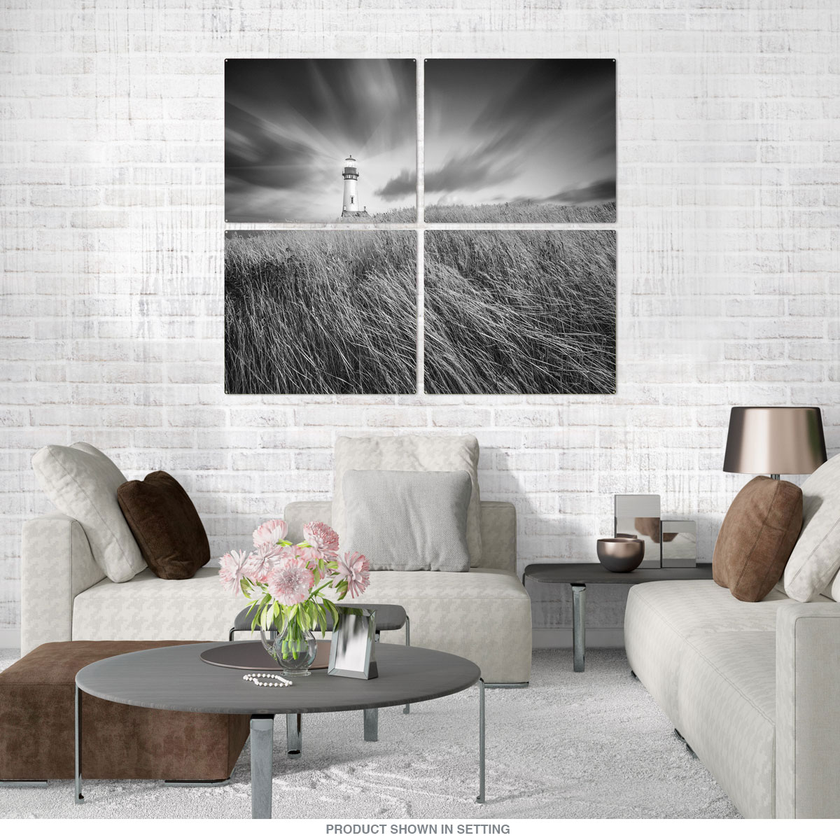 Yaquina Lighthouse Oregon Quadriptych Metal Wall Art | Large Sign ...