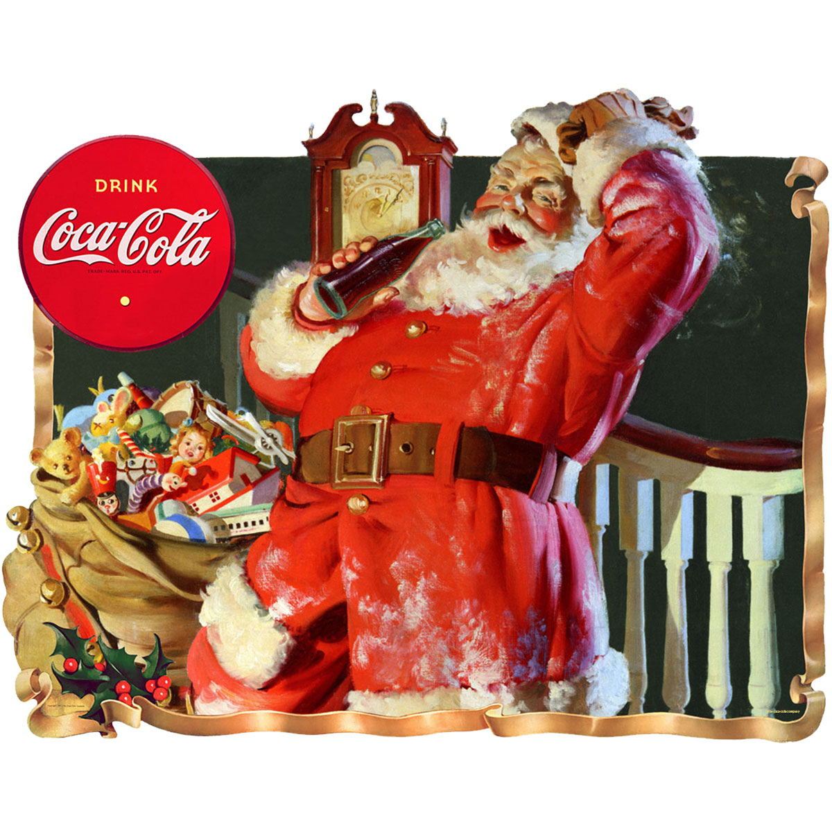 coca cola santa they remembered me wall decal at retro planet. Black Bedroom Furniture Sets. Home Design Ideas