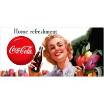 Coca-Cola Girl with Flowers Home Refreshment Wall Decal