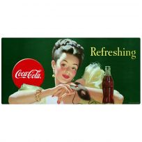 Coca-Cola Girl with Mask Refreshing Wall Decal