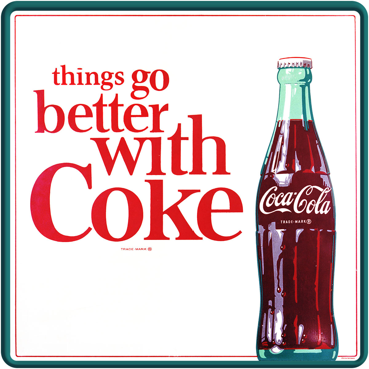 Things Go Better With Coke Coca-Cola 1960s Wall Decal | Coke Kitchen ...