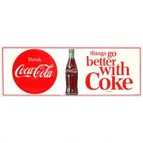 Drink Coca-Cola Better With Coke 1960s Wall Decal