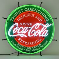 Coca-Cola Delicious Refreshing Neon Sign 24 In