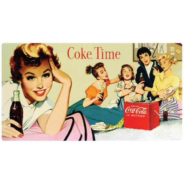 Coca-Cola Coke Time Girls 1950s Wall Decal