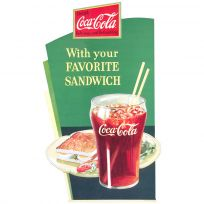 Coca-Cola With Your Favorite Sandwich 1930s Wall Decal