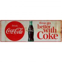 Drink Coca-Cola Better With Coke 1960s Wall Decal Distressed