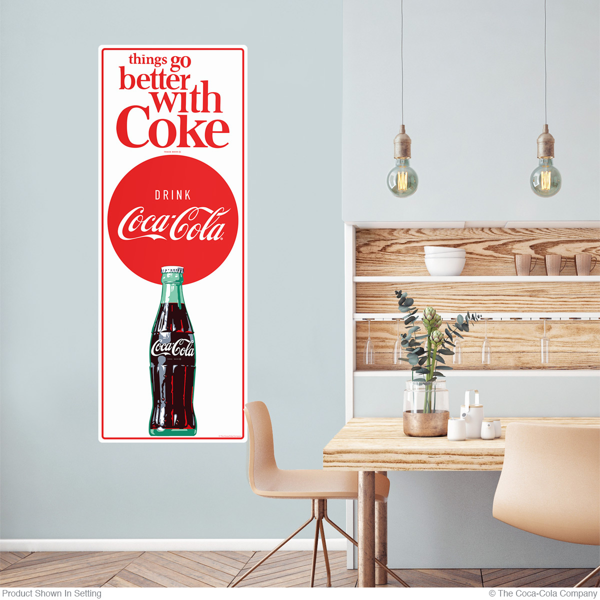 Coca-Cola Things Go Better 1960s Wall Decal | Coke Kitchen Decor ...