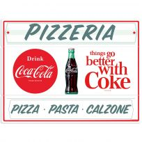 Drink Coca-Cola Pizzeria Pizza Large Metal Signs
