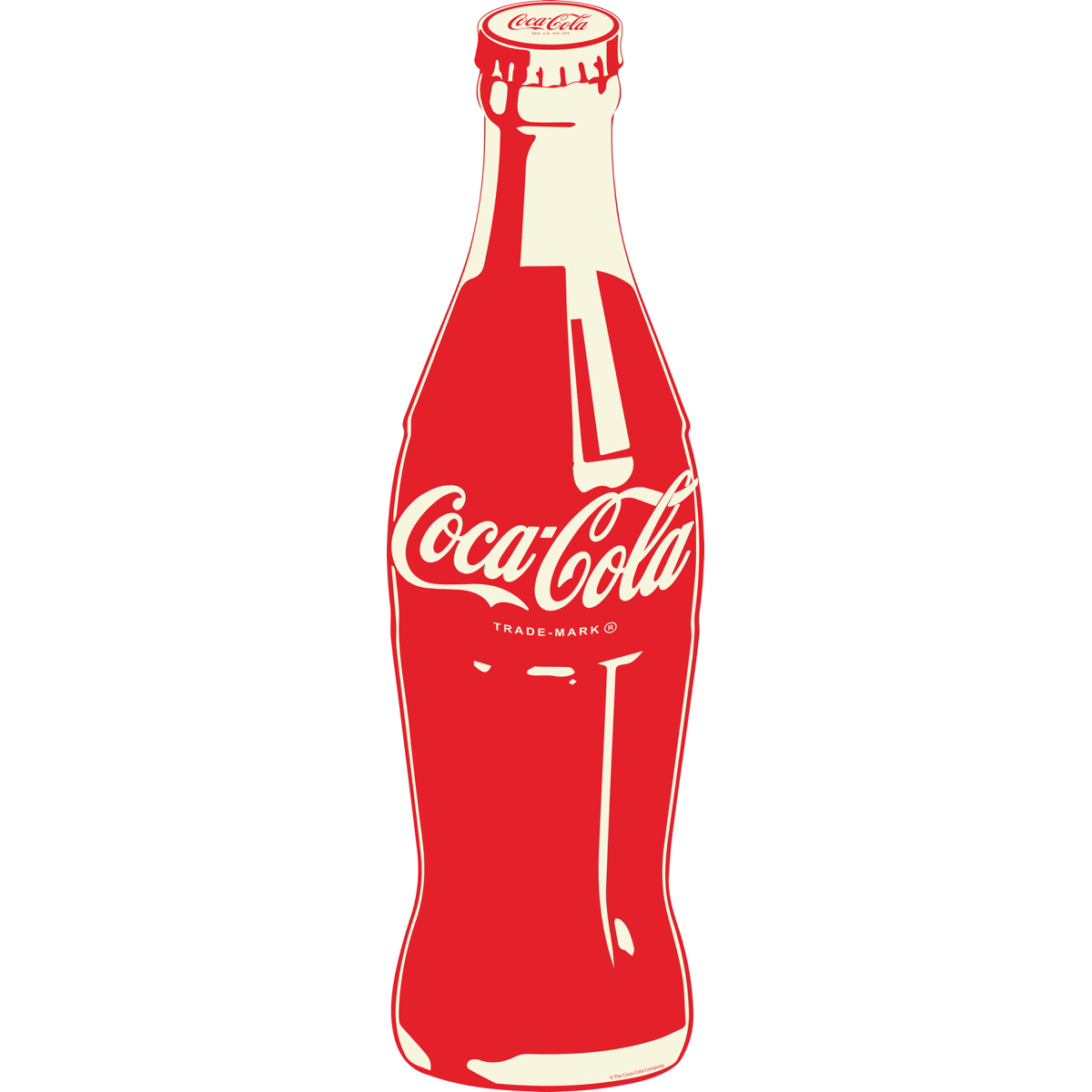 Coca Cola Red Contrast Bottle Pop Art Decal At Retro Planet
