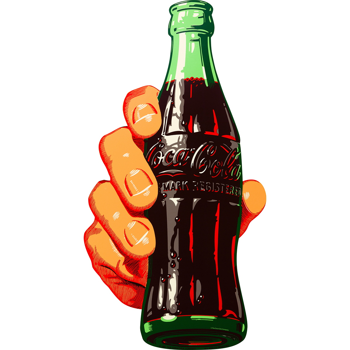Coca Cola Soda Bottle In Hand Decal At Retro Planet
