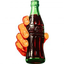 Coca-Cola Soda Bottle In Hand Decal