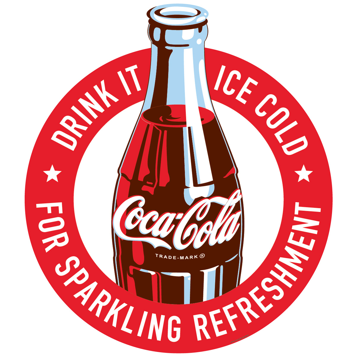 Coca Cola Drink It Ice Cold Sparkling Refreshment Decal At Retro Planet
