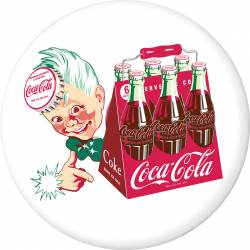 07c136470af01 Coca-Cola Sprite Boy with 6 Pack Disc Decal White