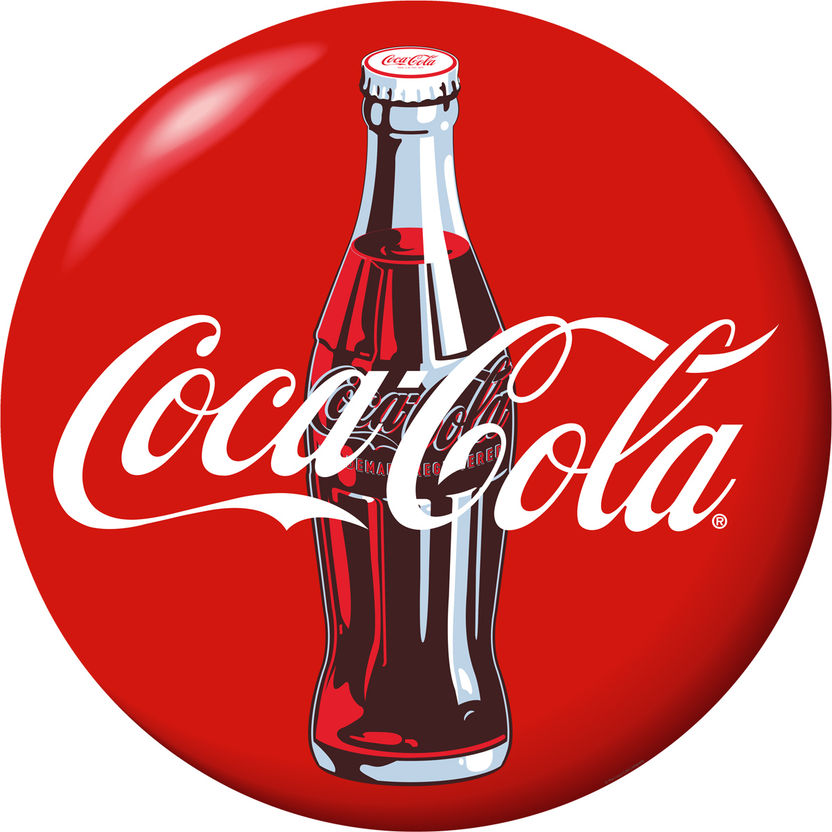 Coca Cola Bottle Red Disc Decal At Retro Planet