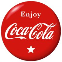 Enjoy Coca-Cola Star Red Disc Large Metal Signs