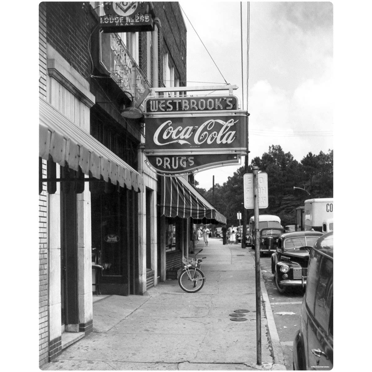 Coca Cola Old Time Drug Store Wall Mural Decal At Retro Planet