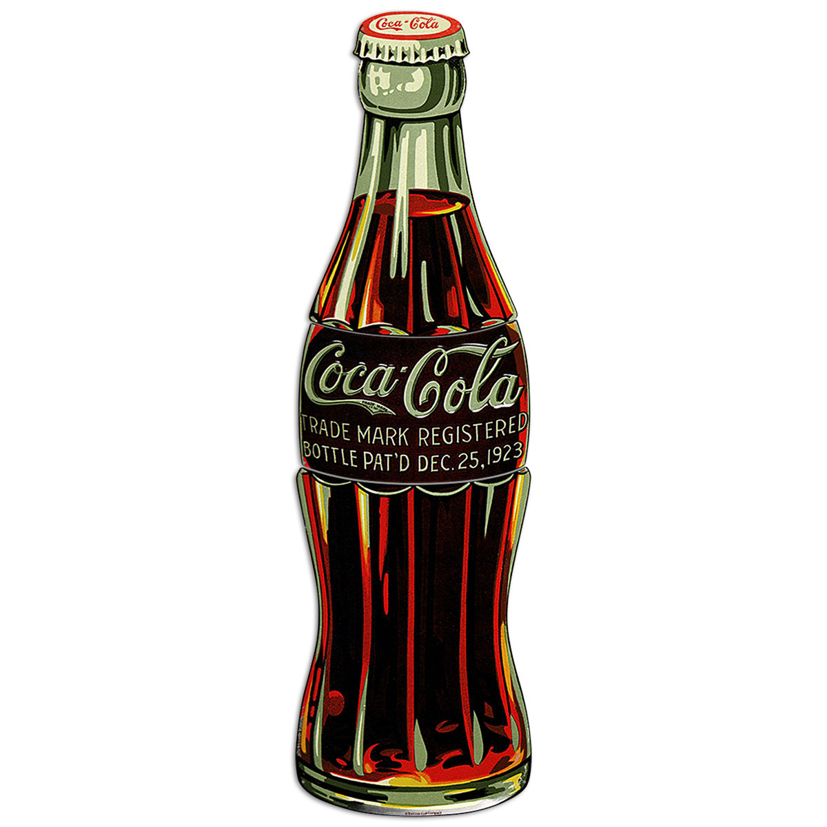 Coca Cola Bottle Patented 1923 Large Metal Signs At Retro