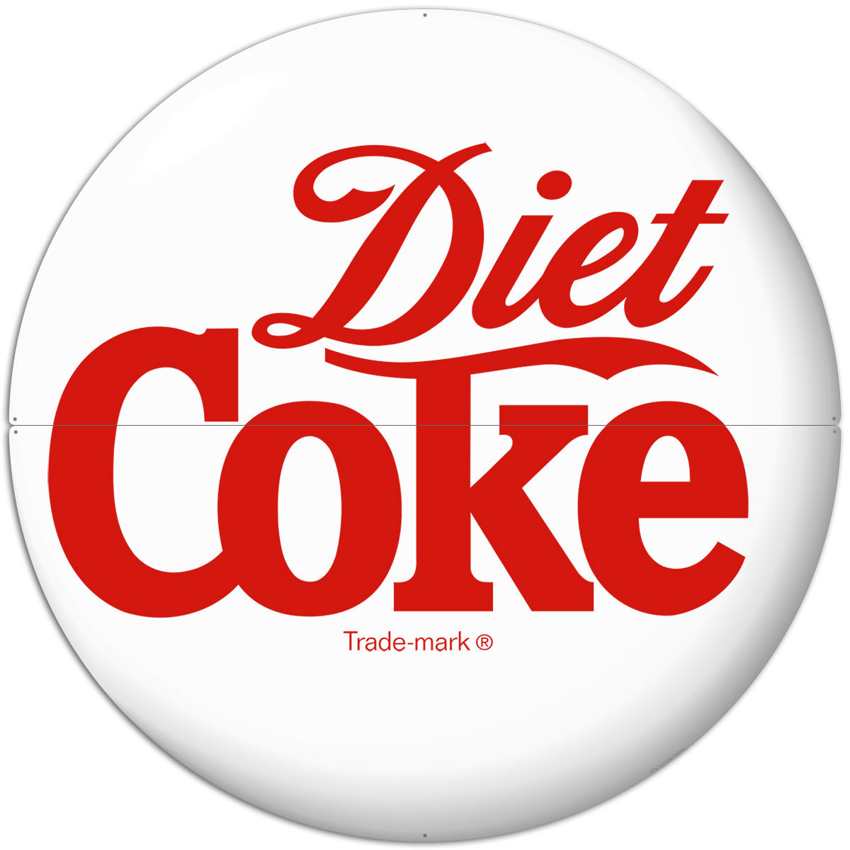 Diet Coke Logo White Disc Large Metal Signs At Retro Planet