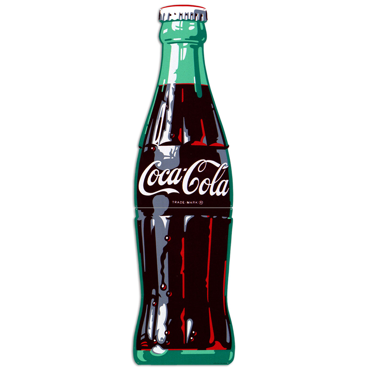 Coca Cola Bottle Ice Cold Large Metal Signs 1960s Style At