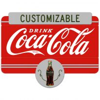 Drink Coca-Cola 1930s Style Personalized Large Metal Signs
