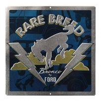 Ford Bronco Rare Breed Metal Sign_D