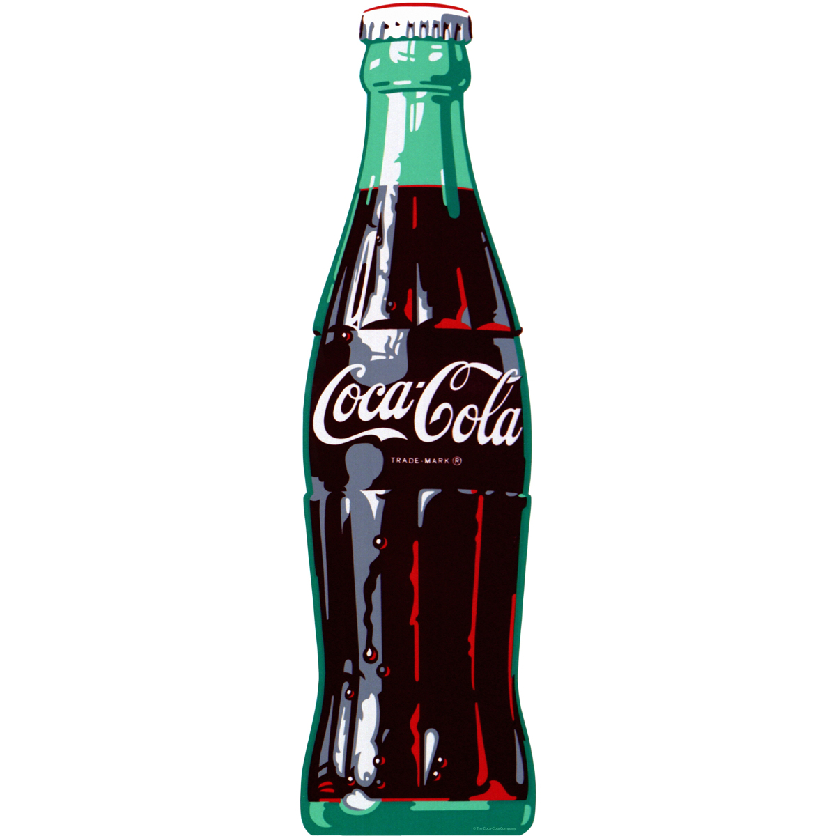 Coca Cola Ice Cold Bottle Floor Graphic 1960s Style At