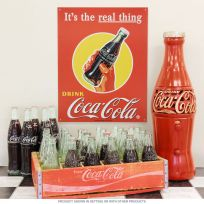 Coca-Cola Real Thing Bottle Ad 1948 Metal Sign
