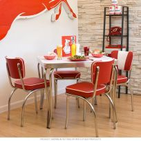 Dinette Set Square Table with 4 Chairs