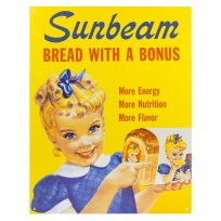 Sunbeam Bread with a Bonus Ad Metal Sign