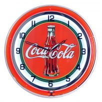 Coca-Cola Bottle Logo Double Neon Diner Wall Clock