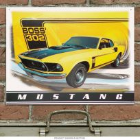 Ford Mustang Boss 302 Classic Muscle Car Garage Sign
