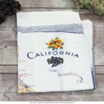 California State Map Souvenir Kitchen Towel