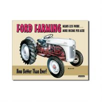 Ford Farming Tractor Metal Sign