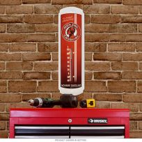 Mohawk Gasoline Indian Metal Thermometer