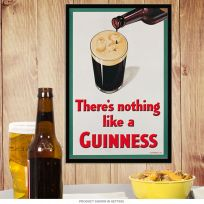 Nothing Like a Guinness Smiling Beer Pint Sign