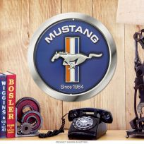Ford Mustang Logo Since 1964 Blue Metal Sign