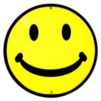 Smiley Face Classic Happy Metal Sign