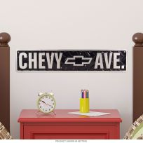 Chevrolet Avenue Embossed Metal Street Sign