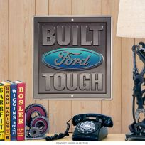 Ford Built Tough Embossed Tin Sign