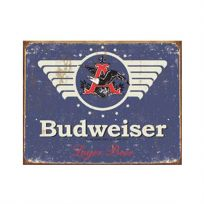 1936 Budweiser Lager Beer Tin Sign