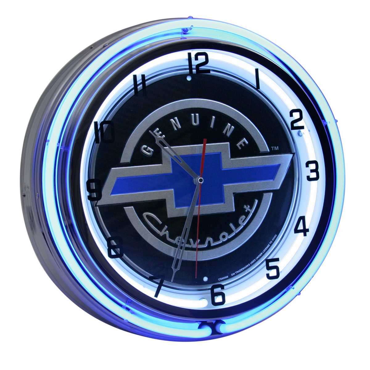 Decorative wall clocks and thermometers retroplanet genuine chevrolet bowtie logo double neon clock amipublicfo Images
