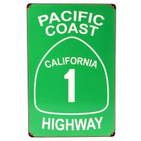 Pacific Coast Highway 1 California Travel Sign