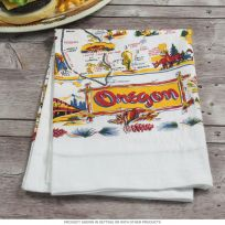Oregon State Map Souvenir Kitchen Towel