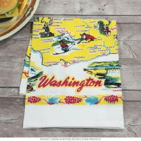 Washington State Map Souvenir Kitchen Towel