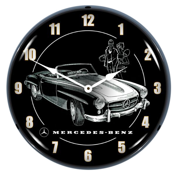 Mercedes-Benz Convertible Light Up Garage Clock