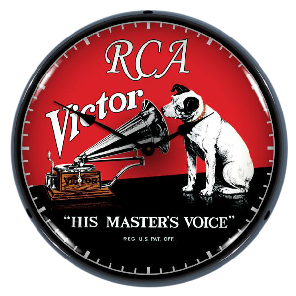 Rca Nipper Victor His Masters Voice Led Light Up Clock At