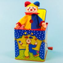 Jack in the Box Classic Spring Loaded Clown Toy