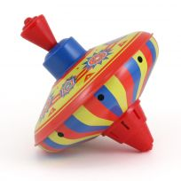 Tin Top Old Fashioned Spinning Plunger Toy_D