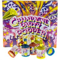 Champagne Party Poppers Noise Makers Box of 72