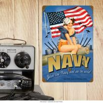 Join the Navy Pin Up Girl Recruitment Sign